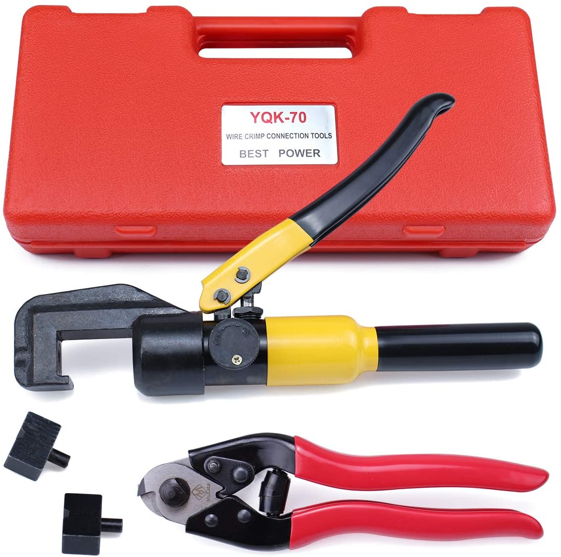 Muzata Custom Hydraulic Hand Crimper Tool for Stainless Steel Cable Railing Fittings for 1/8