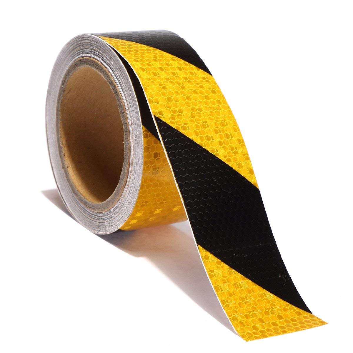 Reemky Reflective Safety Tape 2x 33ft Adhesive Tape for Stair Steps Road Transport Facilities Vehicles Ships Fairways Stage Channel (5CM x 10M)