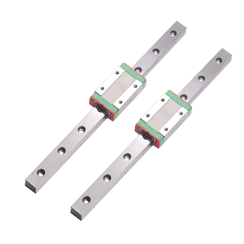 MR12 MGW12 1500mm Miniature Rail Guide x 2pcs + MGW12H Slider of Rail Guide x 2pcs for Miniature Linear Motion