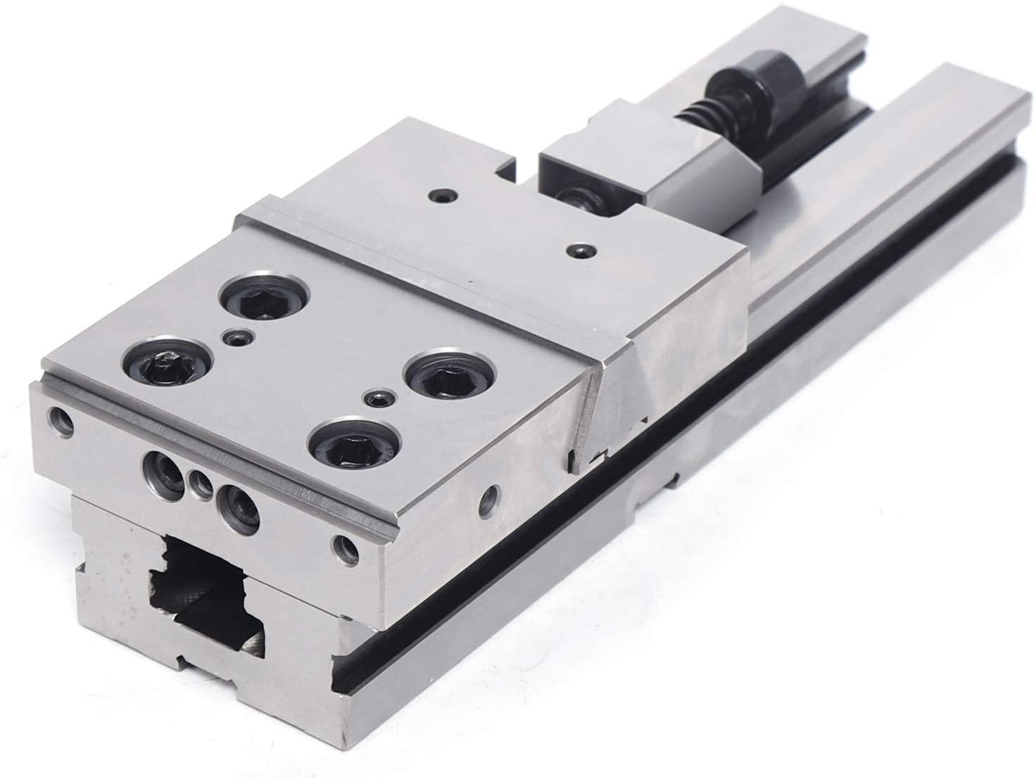 WINUS Precision Vise, Vise Stainless Steel Clamp Diameter 100mm Jaw Opening Clamp for CNC Milling Machine