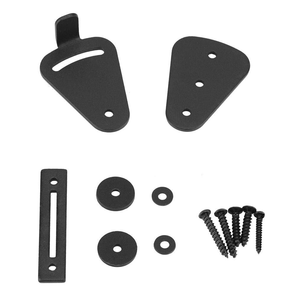 Barn Door Lock, Black Steel Sturdy Durable Practical Lock for Sliding Door Work for Pocket Doors Garage and Shed Wood Glass Gates