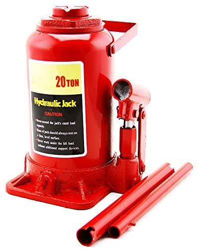 XtremepowerUS Hydraulic Bottle Jack (20 Ton) Portable Hydraulic Jack Lift Height Farm RV Truck Equipment Automotive Shop