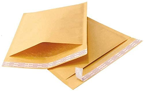 4 x 8 Inch #000 Economic Grade Kraft Bubble Padded Envelopes Mailers #000 (500)