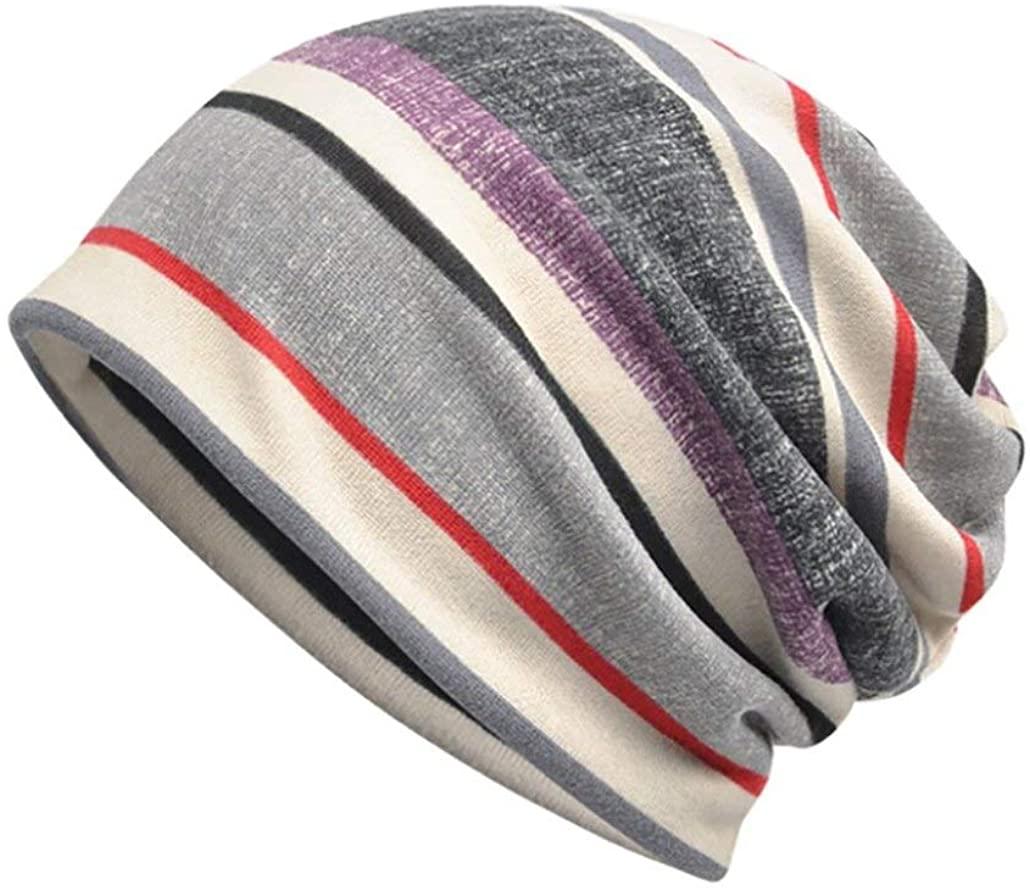 Women Stretch Turban Hat Stripe Print Hair Loss Head Scarf Wrap Chemo Cap Ladies Stretch Head Wrap