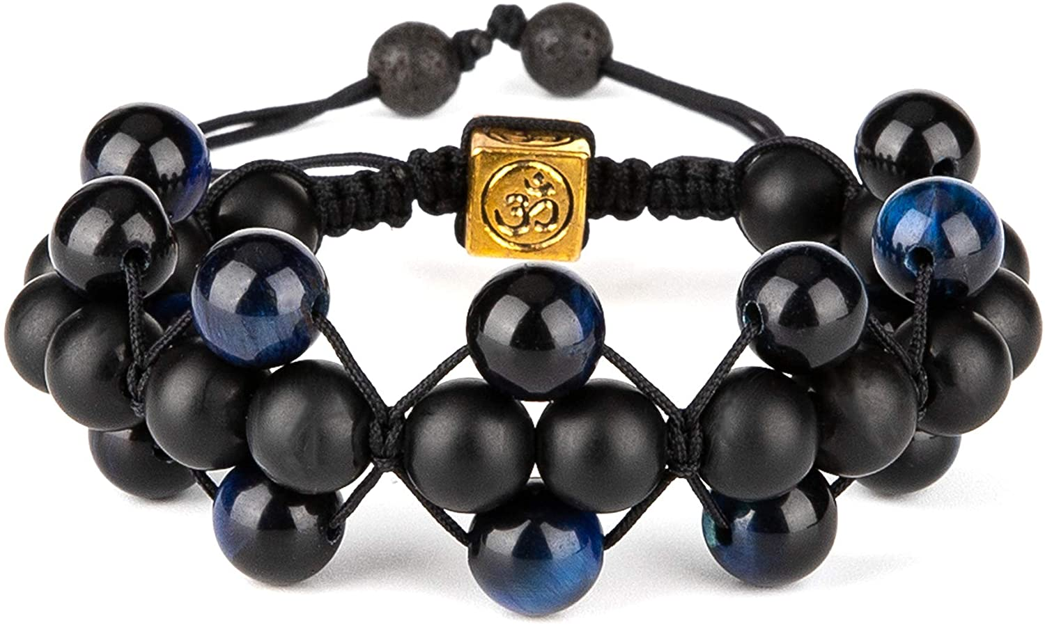 Bivei 8mm Tiger Eye Anxiety Bracelet for Women/Men Natural Gemstone Yoga Meditation Relax Healing Energy Beads