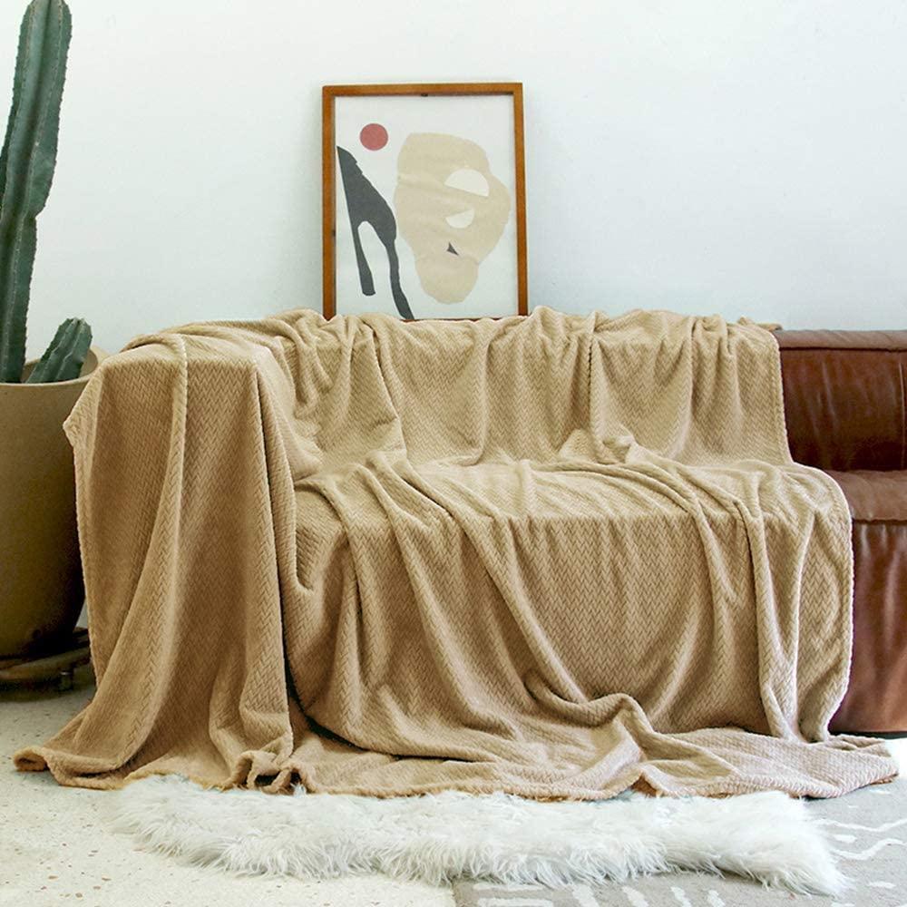 U UQUI Flannel Fleece Blanket Soft Throw Blanket Super Cozy Lightweight Blanket-Throw(50
