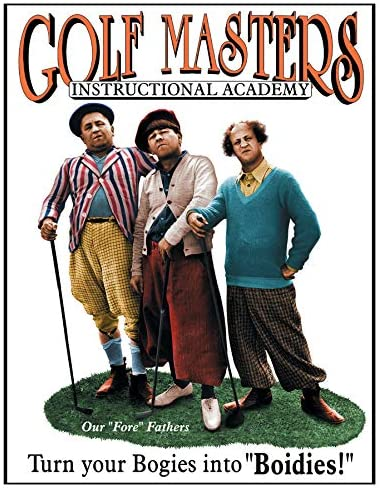 Desperate Enterprises The Three Stooges - Golf Masters Tin Sign, 12.5
