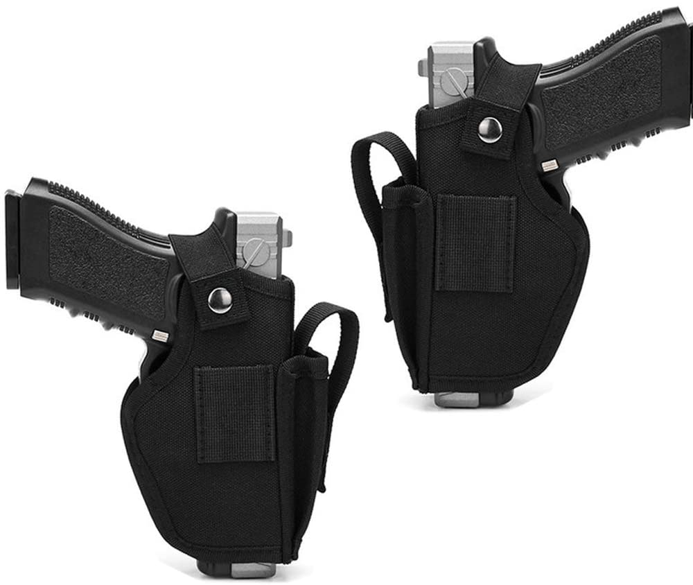 2 Pack Universal Gun Holster for Concealed Carry Weapon Case Inside or Outside The Waistband for Right and Left Hand Draw Fits Subcompact Compact Full Size Pistols