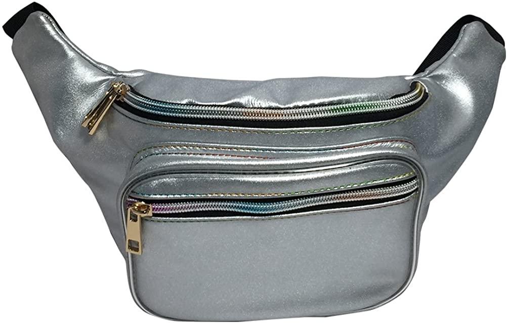 Fanny Pack Waist Pack Hologram Bum Bag Hip Pack for Women Hiking Running
