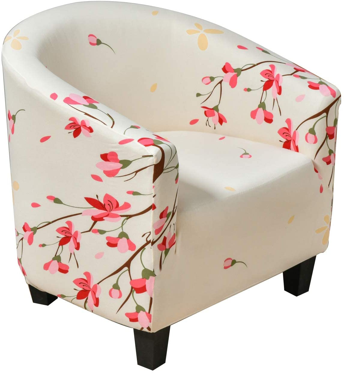 Anchengcraft Club Chair Slipcover 1-Piece Printed Tub Chair Covers Sofa Cover Spandex Couch Covers for Bar Counter Living Room (15)