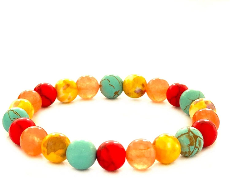 YAFAFF Bracelets for Women Anxiety Bracelet for Women Chakra Beaded Bracelets for Women Pulseras de Mujer Positivity Bracelet Boho