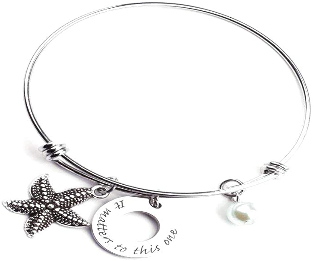 Anlive Starfish Bracelet Necklace It Matters to This One Bracelet Necklace Adjustable Bracelet Pearl Bracelet Necklace A Bracelet for My Sister