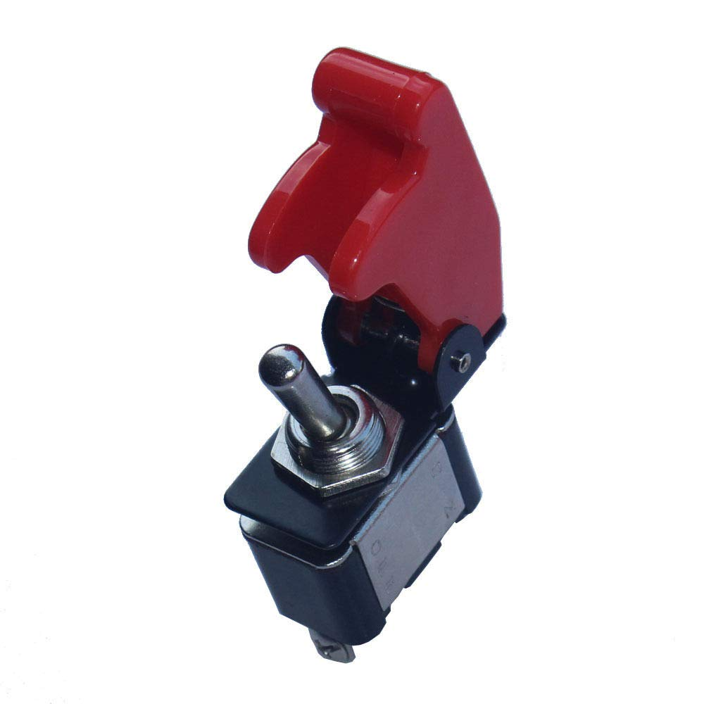 cicisame 1pcs 12V 20A Red Cover Rocker Toggle Switch SPST ON/OFF Car Truck Boat 2Pin Sales