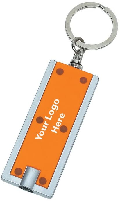 Rectangular LED Key Chain - 250 Quantity - $1.09 Each - PROMOTIONAL PRODUCT/BULK/BRANDED with YOUR LOGO/CUSTOMIZED