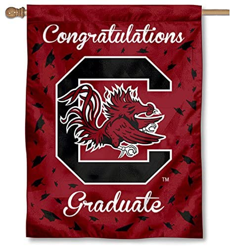 College Flags & Banners Co. South Carolina Gamecocks Graduation Gift Banner Flag