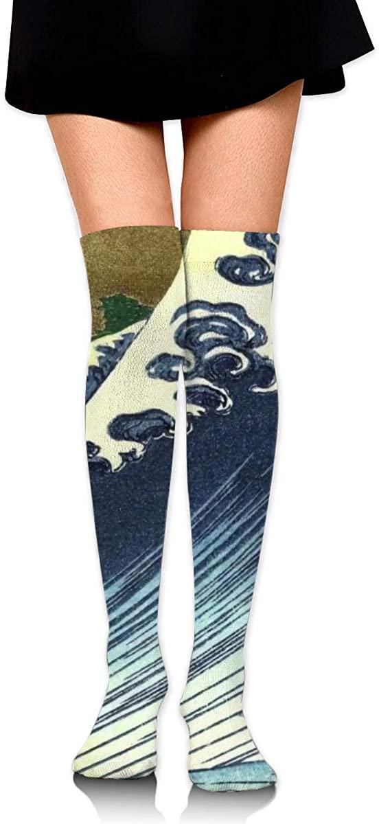 Girls High Thigh Socks Soft Non Slide Extra Long Socks High Thigh Socks
