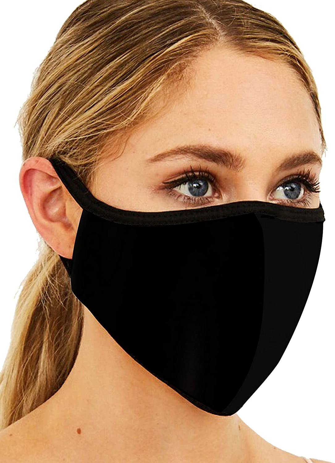 Face Masks for Women Men | Made in USA | 3-Layers | Washable Reusable | Cotton | Unisex.