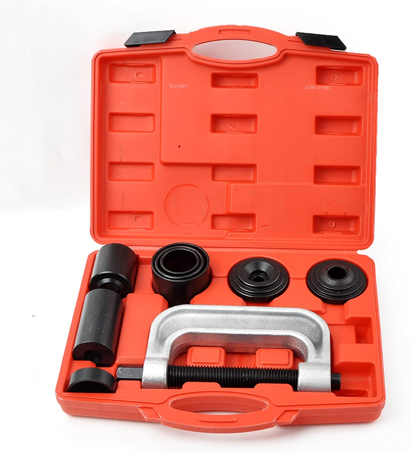 WINMAX TOOLS AUTOMOTIVE Ball Joint Service Kit Tool Set (4 in 1) 2wd & 4wd Vehicles Remover Install with 4-Wheel Drive Adaptors