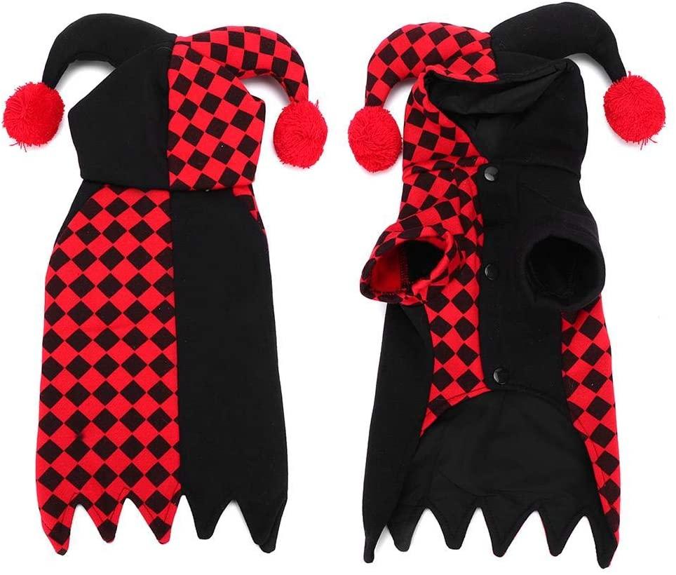 Taidda- Halloween Dress Pet Clown Clothes, Pet Costume, Dog for Pet Clothes Cat Puppy
