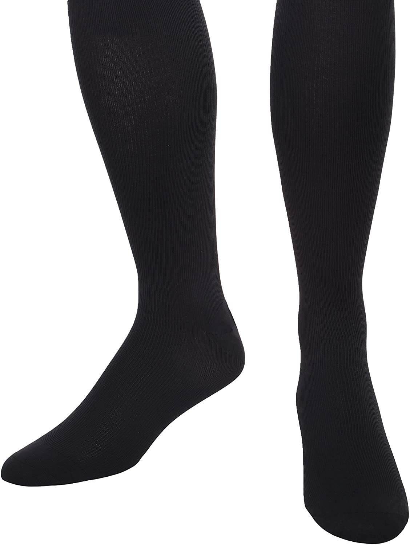 Men's Microfiber Light Support Compression Socks-8-15mmHg (Medium, Navy)