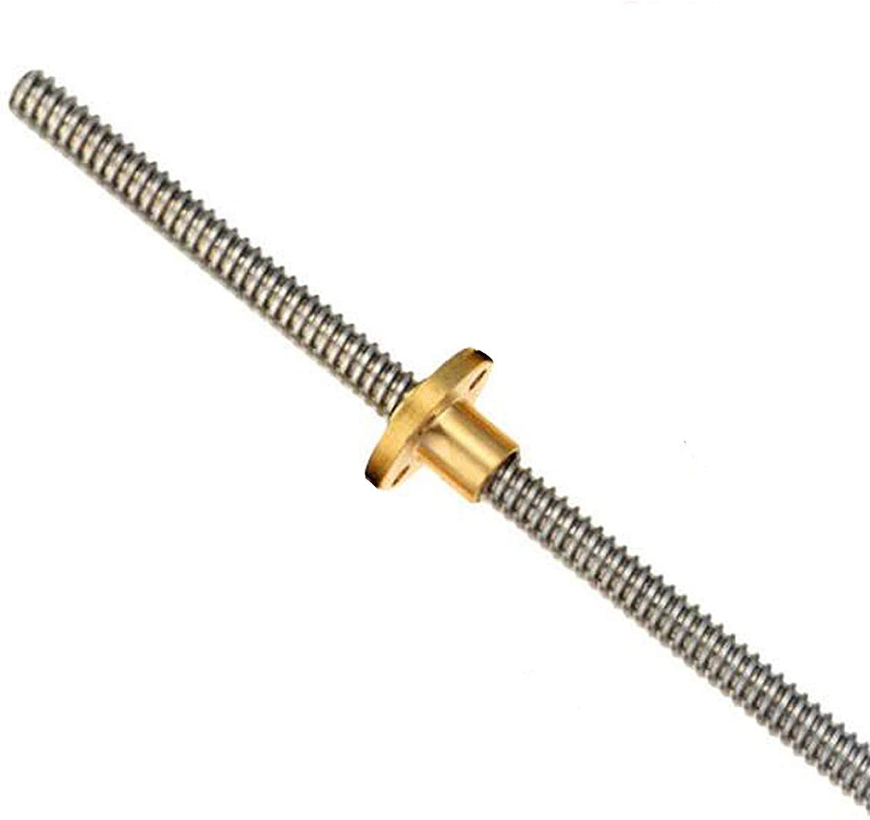 T8 Lead Screw ( 2mm Pitch , 4mm Lead ) Length 100mm with Copper Nut THSL-100-8D 3D Printer Part