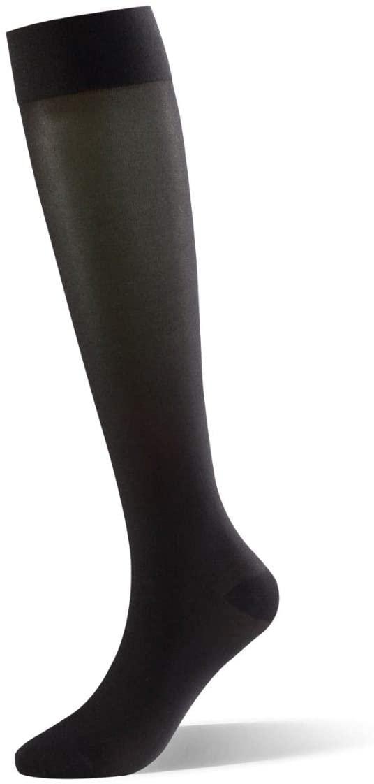 Dr Comfort Select Sheer 15-20 mmHg Below Knee Women Compression Stockings - Black - Medium