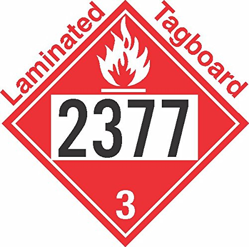 GC Labels-T309c2377, Flammable Class 3 UN2377 Tagboard DOT Placard, Package of 50 Placards