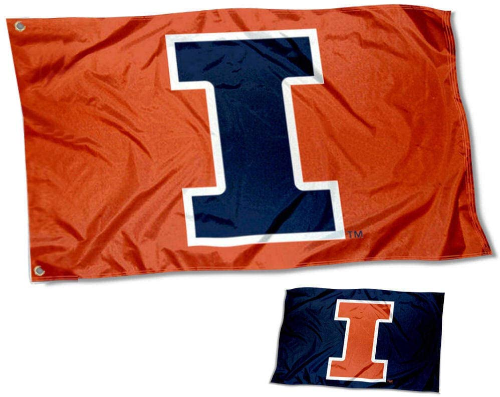 College Flags & Banners Co. University of Illinois Fighting Illini Double Sided Flag