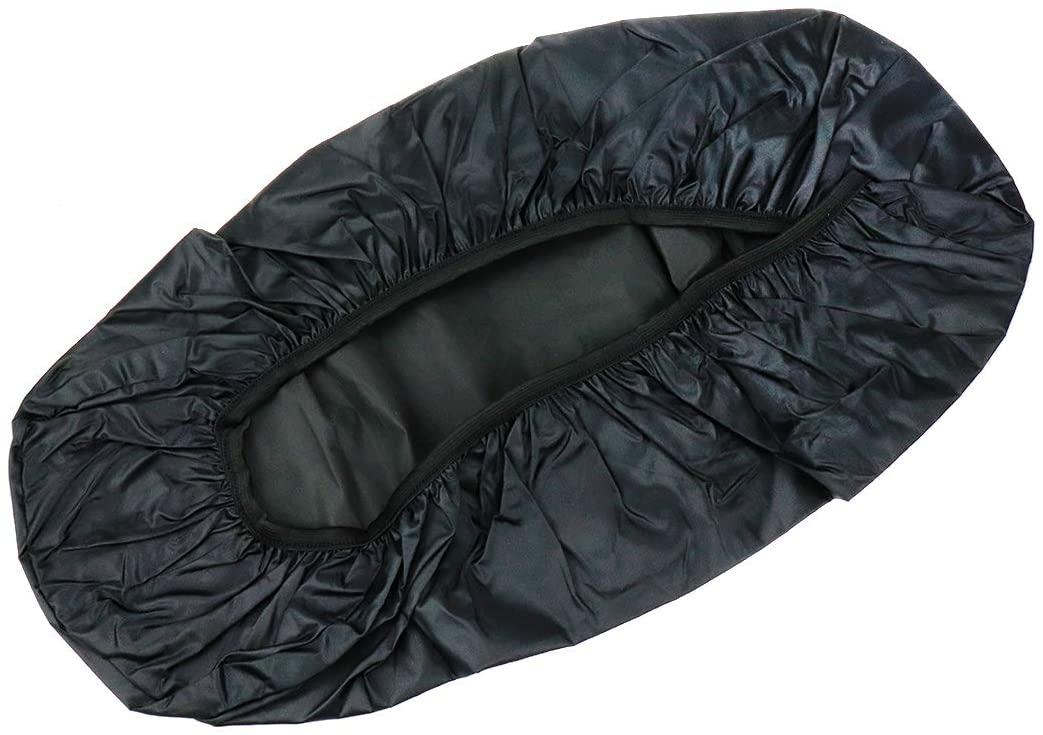 Modengzhe Waterproof Motorcycle Seat Cover, Rainproof & Dustproof, 21 x 11 inches Fit for Small-Size Motorcycle Moped Scooter, Black Size S