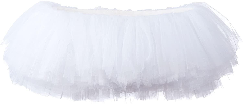 My Lello Womens Teen Adult 10 Layered Fluffy Ballet Tulle Tutu Skirt