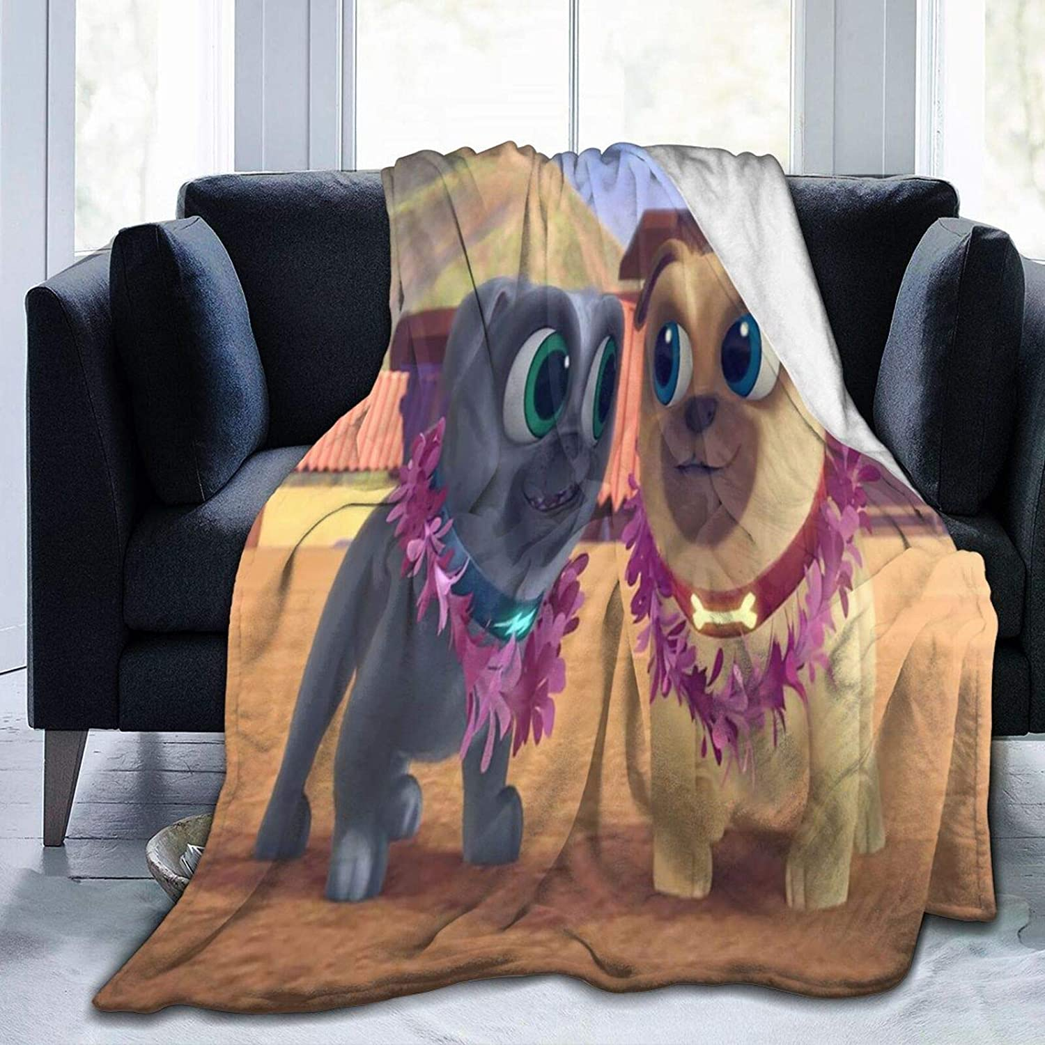 Sarah Scott Puppy Dog Pals Blankets and Air Conditioning Quilt Made of Anti-Pilling Fleece That are Soft to Travel Anywhere Comfortable,50