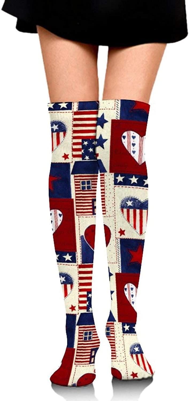 Unisex High Thigh Socks Novelty Compression Socks Knee-High Warm Stocking