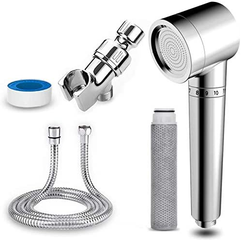 Handheld Showerheads & Handheld Showers with Hose & Replacement ACF Filters,Showerhead Filters Hard Water Softener,Helps Dry Skin & Hair Loss, High Pressure & Water Saving Filtered Shower Head…