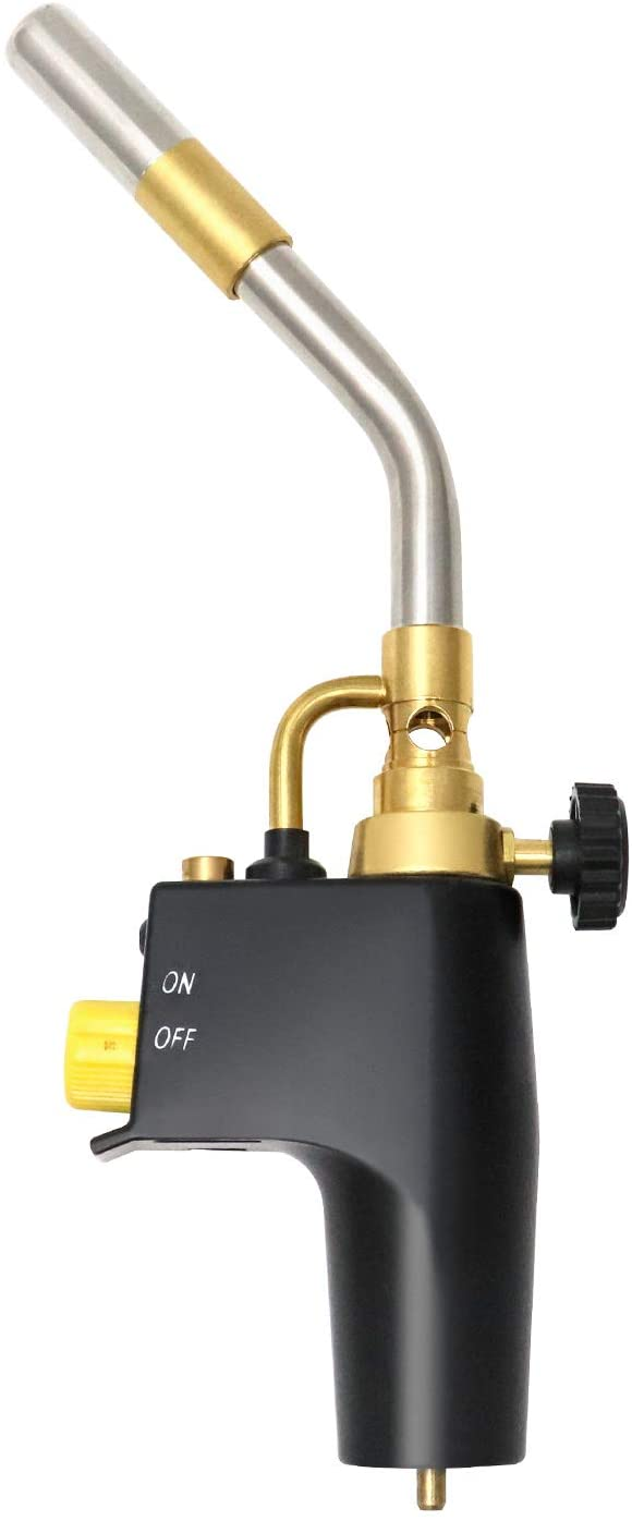 QWORK Trigger-Start Torch Head Model TS-8000, Adjustable Brazing and Soldering Torch