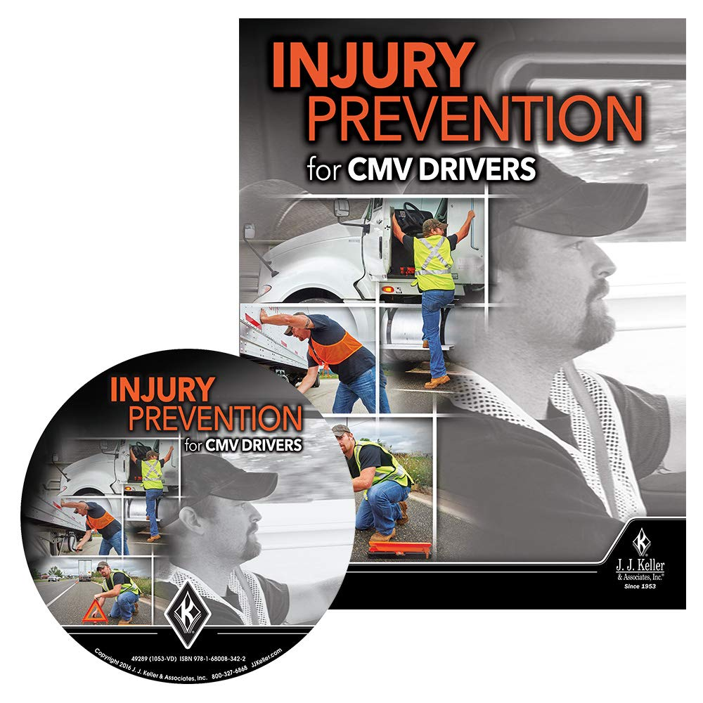 Injury Prevention for CMV Drivers English Training DVD Video - J. J. Keller & Associates - Help Your Drivers Stay Injury-Free While Performing Non-Driving tasks