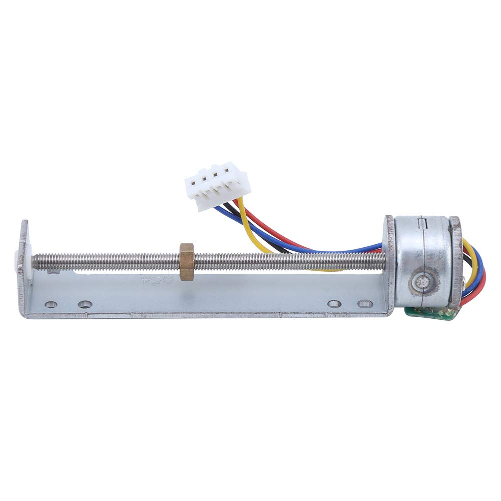 Length Travel Linear Stage Actuator, 2 Phase 4 Wire Linear Stepper Motor Small Slide Guide Rail CNC Screw Stepper Motor for DIY Small Slider/Project