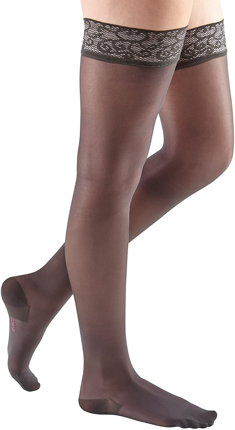 mediven Sheer & Soft 15-20 mmHg/Thigh w/Laces Top-Band Closeds Toes