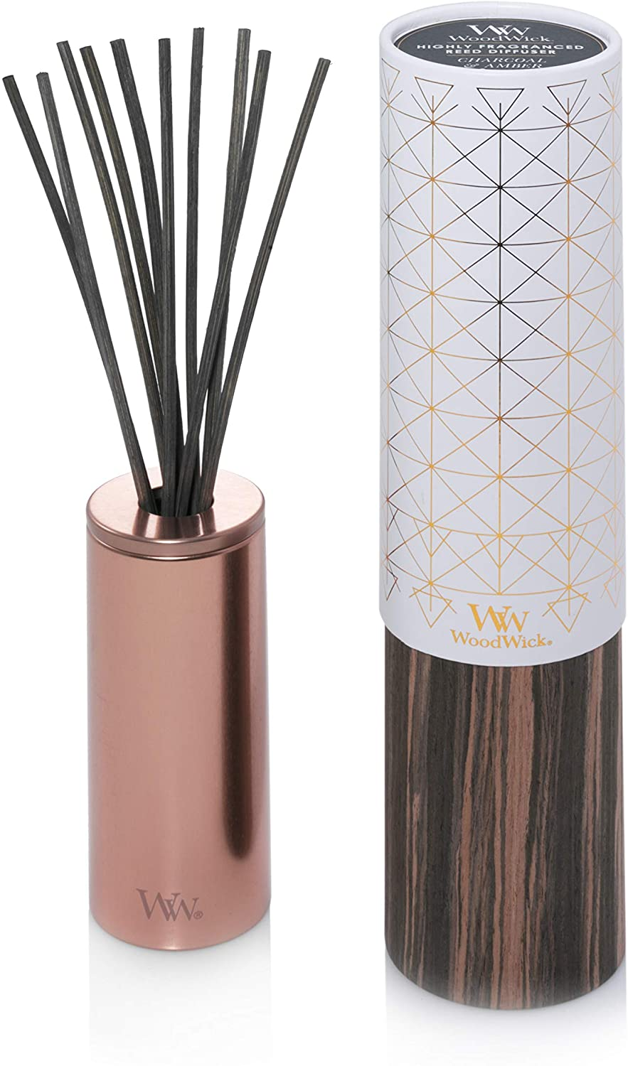 WoodWick Aura, Charcoal-Amber Reed Diffuser,