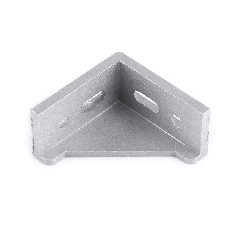 Aluminum Corner Piece,5pcs Aluminum Alloy L Shape Corner Bracket Right Angle Brace Fastener 58x58mm