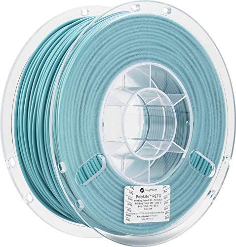 Polymaker PolyLite PETG 3D Printer Filament, 3D Printing Filament, 2.85 PETG - 1Kg Spool (2.2lbs) Polymaker Teal [Random Outer Packaging]…