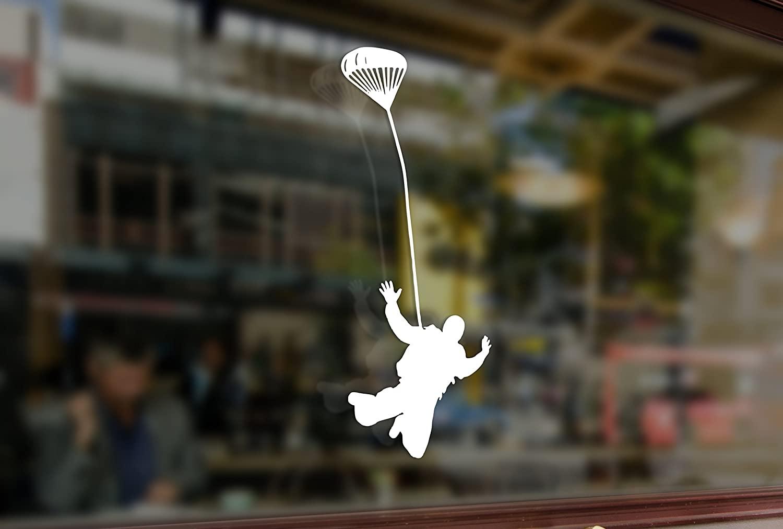 25 Centimeters Parachute Jumper Man Vinyl Stickers Funny Decals Bumper Car Auto Computer Laptop Wall Window Glass Skateboard Snowboard