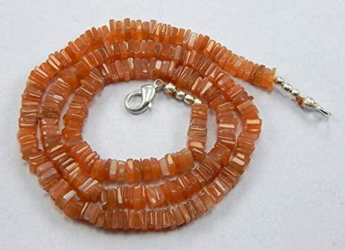 GemAbyss Beads Gemstone Beautifull Natural Sunstone 5 mm Heishi Beads 17.5 Inch Long Strands Code-MVG-47807