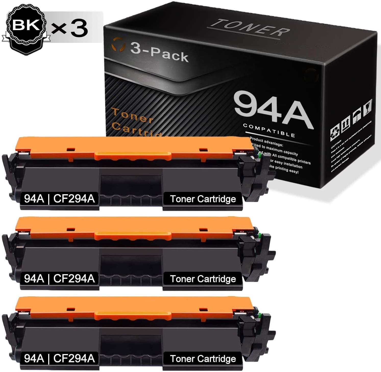 Black 94A   CF294A (3-Pack) Compatible and Replaceable forHP Laserjet Pro M118dw M118-M119 Series MFP M148dw M148fdw MFP M148-M149 Series Printers Toner Cartridge.