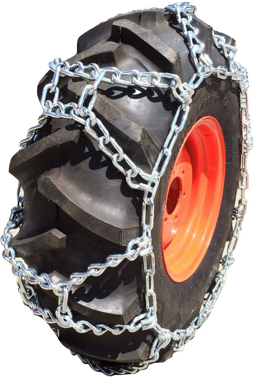 TireChain.com 355/80R20, 355 80 20 Duo Grip Tractor Tire Chains Set of 2