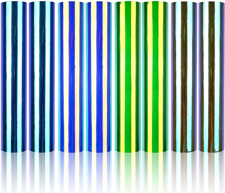 Prime Vinyl 8 Permanent Holographic Opal Vinyl Sheets, 12