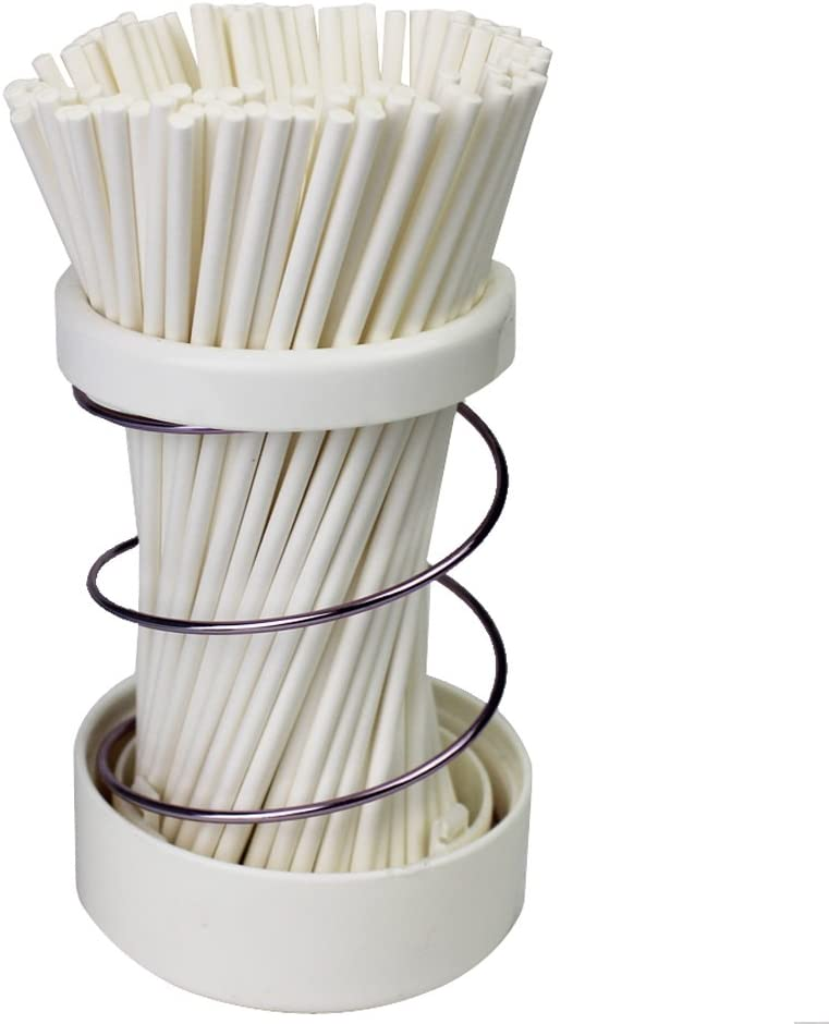 Lollipop Sticks 6 Inch 200 PCS Sucker Paper Sticks for Homemade Cake Pops, Oreo Pops, Chochlate and Hard Candy (White, 6 Inch)