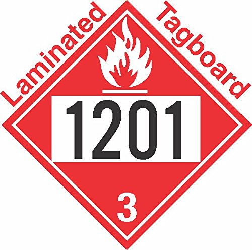 GC Labels-T309c1201, Flammable Class 3 UN1201 Tagboard DOT Placard, Package of 50 Placards