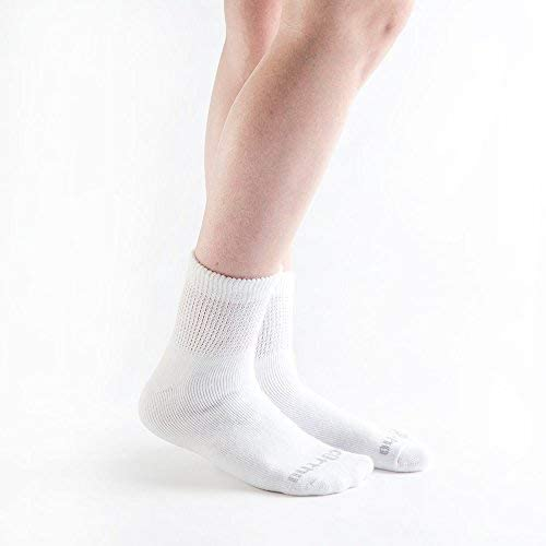 Doc Ortho Ultra Soft Loose Fit Diabetic Socks, 12 Pairs, 1/4 Crew