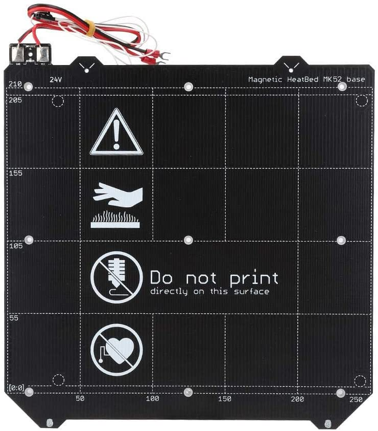 Elastic Steel Plate, Durable PEI Reliable Spring Steel Plate Magnetic Hot Bed Double-Sided for Prusa i3 MK3S MK2.5 3D Printer Accessories