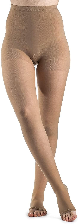SIGVARIS Women's Style Sheer 780 Open Toe Pantyhose 15-20mmHg